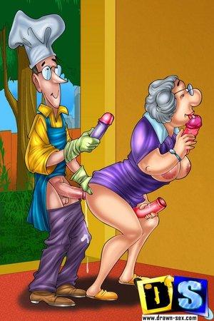 Older couple stop pleasing
