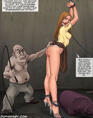 Brunette bimbo captured tortured