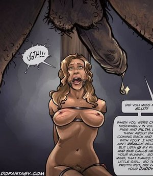 Hairy pussy girl suffering