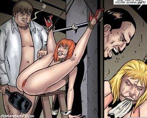 Innocent redhead slave chick
