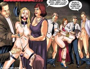 Enslaved slave chicks abused