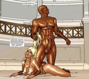 Stunning blonde roman slave