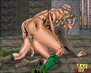 Hot man-on-man action cartoon