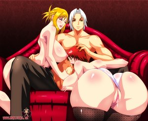 Shaved pussy anime babes