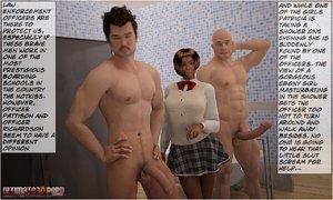 Ebony hottie caught masturbating