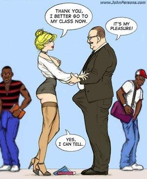 Sexy naughty white teacher