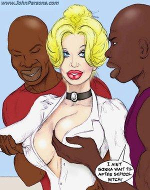 Horny cartoon black students