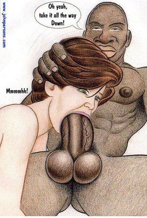 Toon brunette ladyboy throat