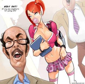 Older professor seduced voluptuous