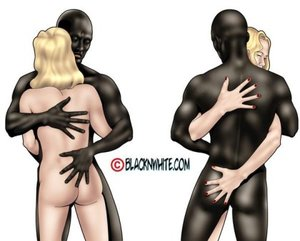Cool interracial sex during a big toon party