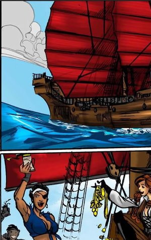 Bad cartoon pirate girl