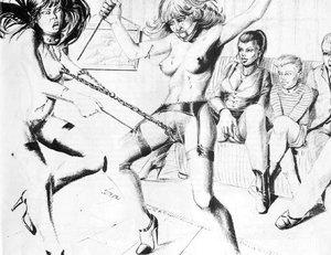 Hot black white drawings