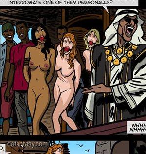Gag-balled naked slave babes