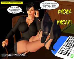 Secretary masturbating spying black