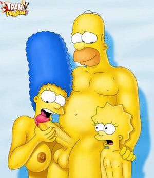 Homer Simpson rocking with two frivolous sluts