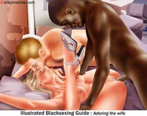 Black girl sucks white