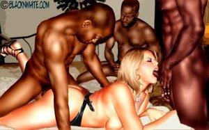 White girl blacks black