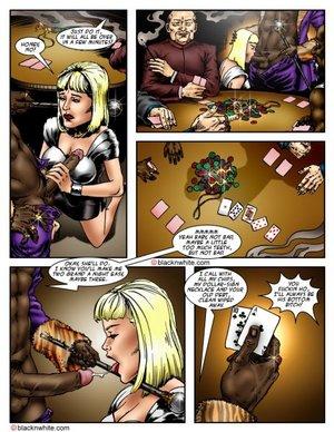 Game poker ends white