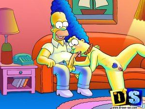 Homer simpson licks ass