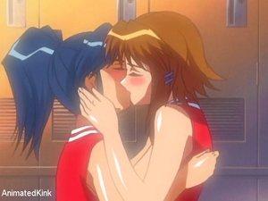 Cute horny lesbians lick