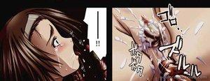 Brunette manga chick banged