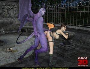 Purple demon horns tail