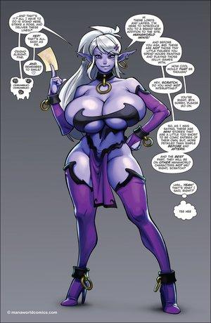 Purple fairy huge boobies