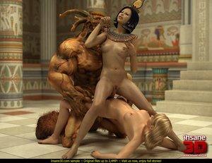 Egyptian queen blonde slave