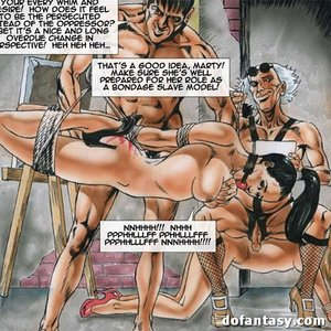 Gagged bound toon slaves