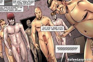 Submissive blondie bondage poked