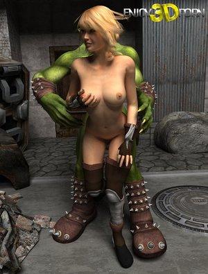 Goblin lord seduces blondie