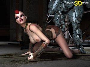 Punk dystopian babe sexual
