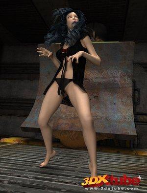 Vivacious gal black hair