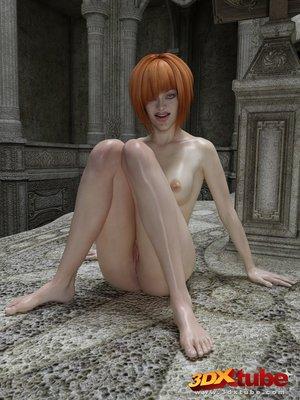 Redhead oils fondles pussy