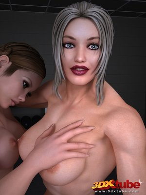 Lesbian girls enjoy hard