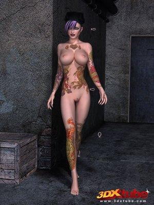 Slender tattooed tarts sexy
