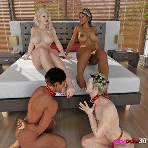 Blonde brunette sluts interracial