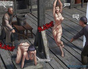 Gorgeous submissive women bound