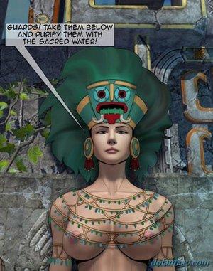 Busty mayan goddess talking