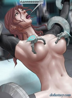 Busty space chick raped