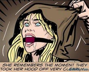 Blue-eyed blonde slave remembering