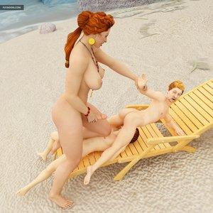 Outstanding cock-sucking action beach