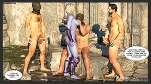 Five nasty as hell men gangbangs a slender goddess