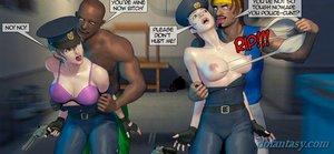 Leggy policewoman tight uniform