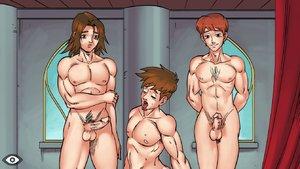 Anime gay anal cumshot