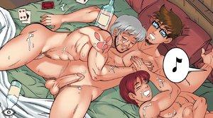 Hentai gays gangbang
