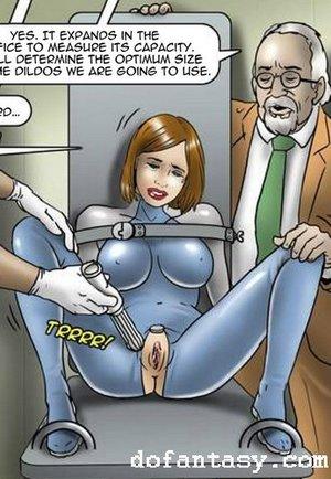 Latex lesbian slave cartoon. The Game by Erenisch.
