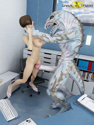 Slutty 3d alien monster fuck