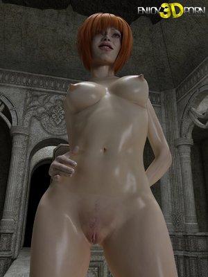 3d redhead