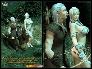 Busty blonde elf girl